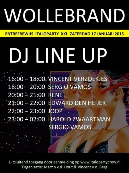 Flyer DJ Line up party 25